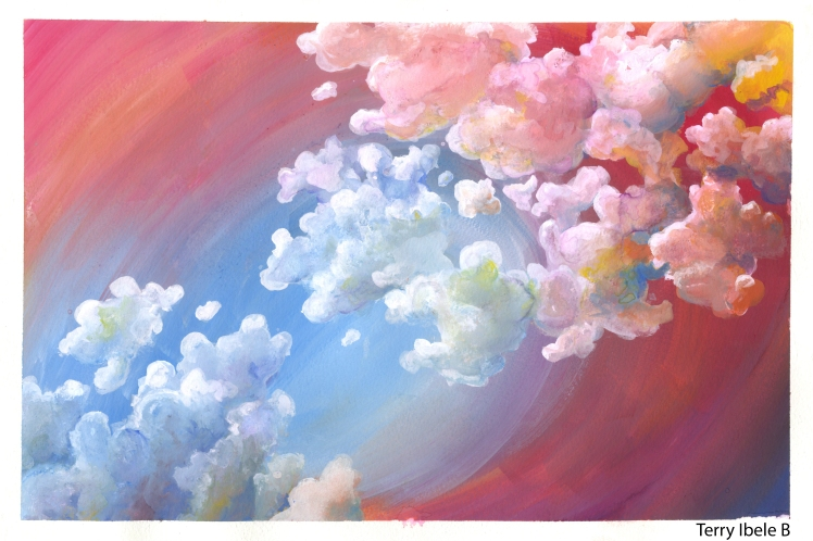 Sheridan Animation Student Gouache Cloud Studies