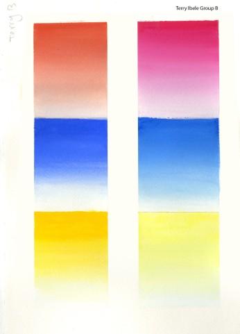 Colour Gradients to White
