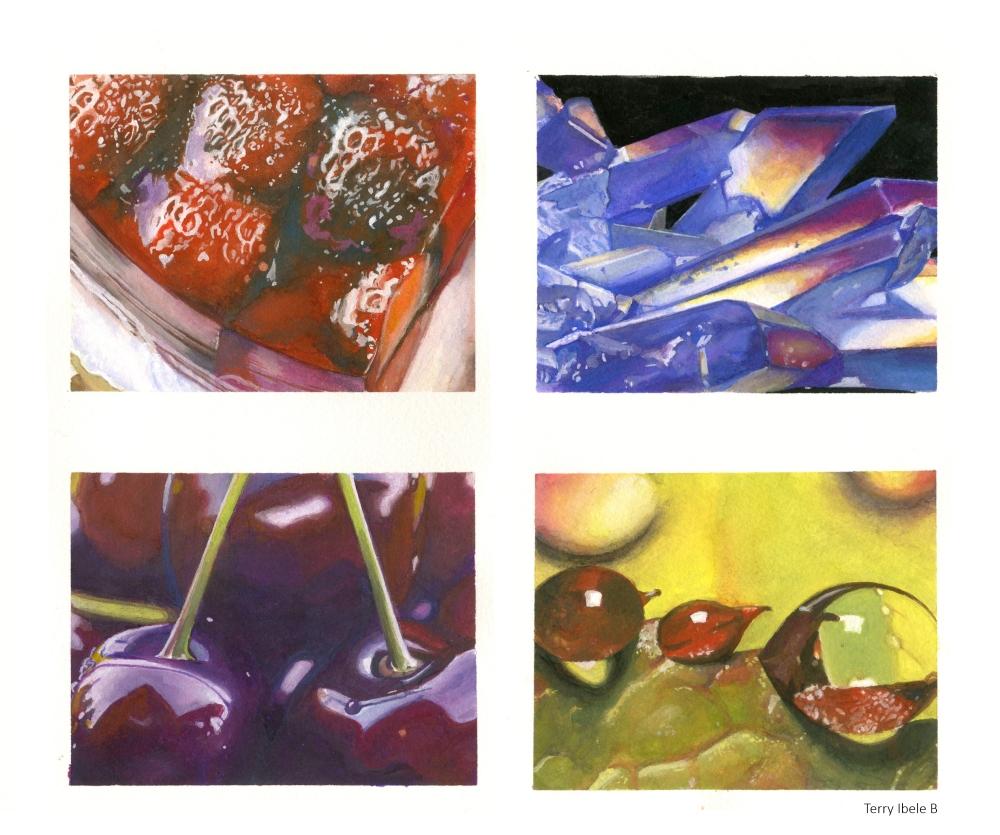 Sheridan Animation Student guoache texture paintings