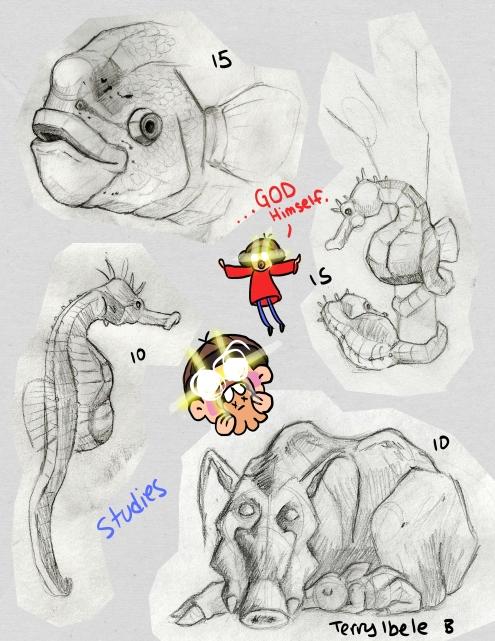 Sheridan Animation Zoo Sketches